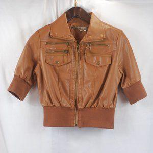 Ashley by 26 International Vegan Leather Jacket L